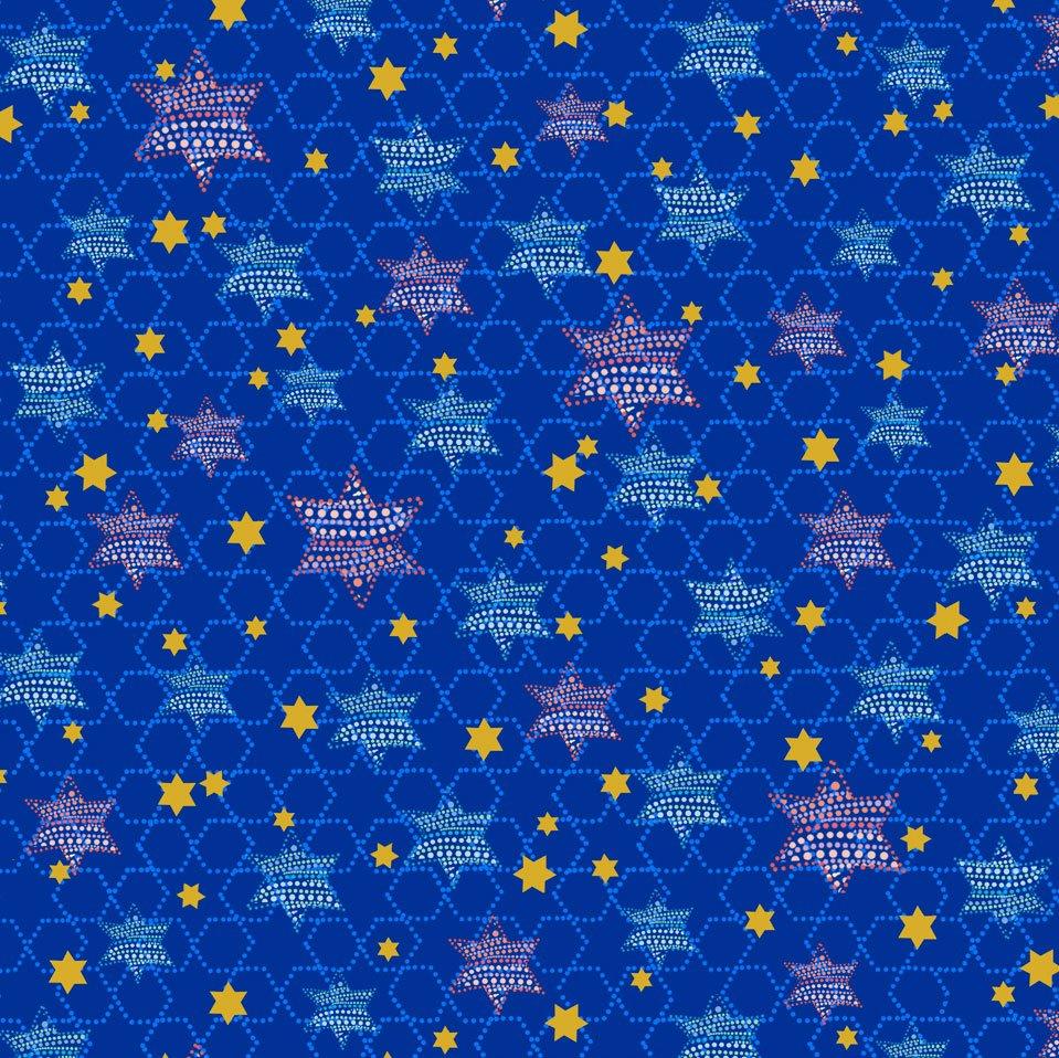 Happy Chanukah Stars Navy