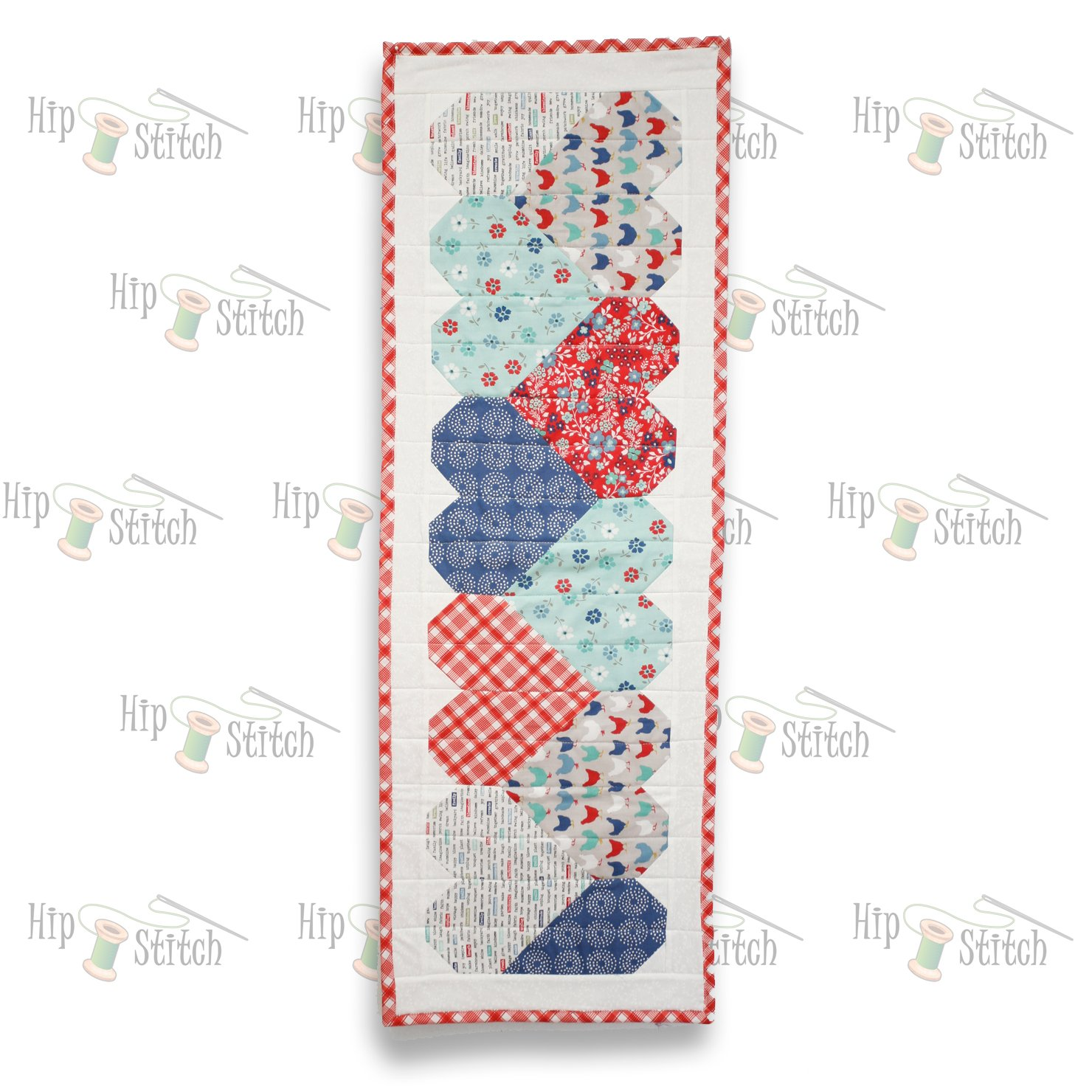 Let's Play Hearts Table Runner Kit