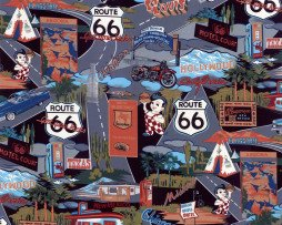 Route 66 Black Vintage