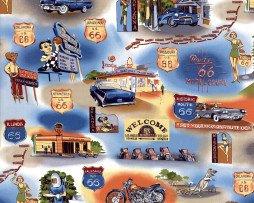 Route 66 Blue Vintage