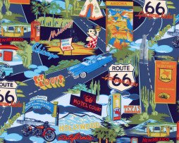 Route 66 Navy Vintage