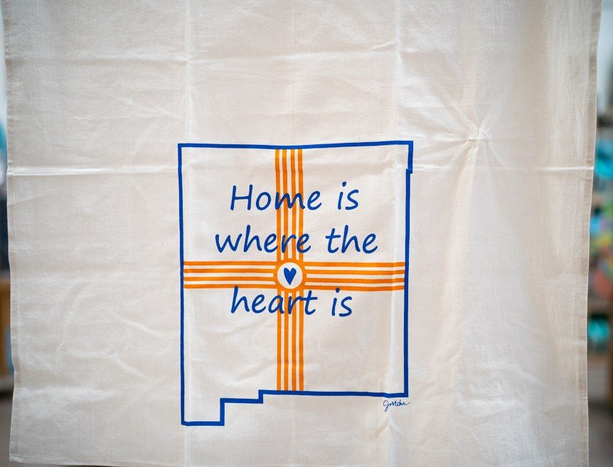 Home is Where the Heart Is Flour Sack Towel