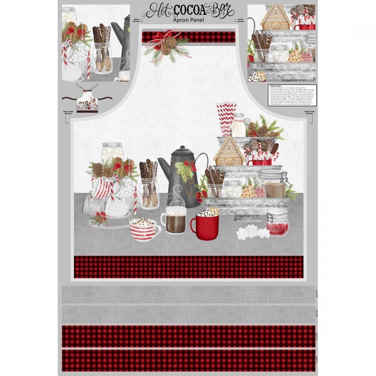 Hot Cocoa Bar Apron Kit - Plaid lining