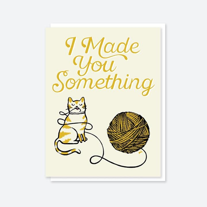 Crafted Moon I Made You Something Cat Card