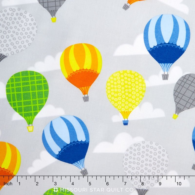 Big City Friends - Gray Hot Air Balloons