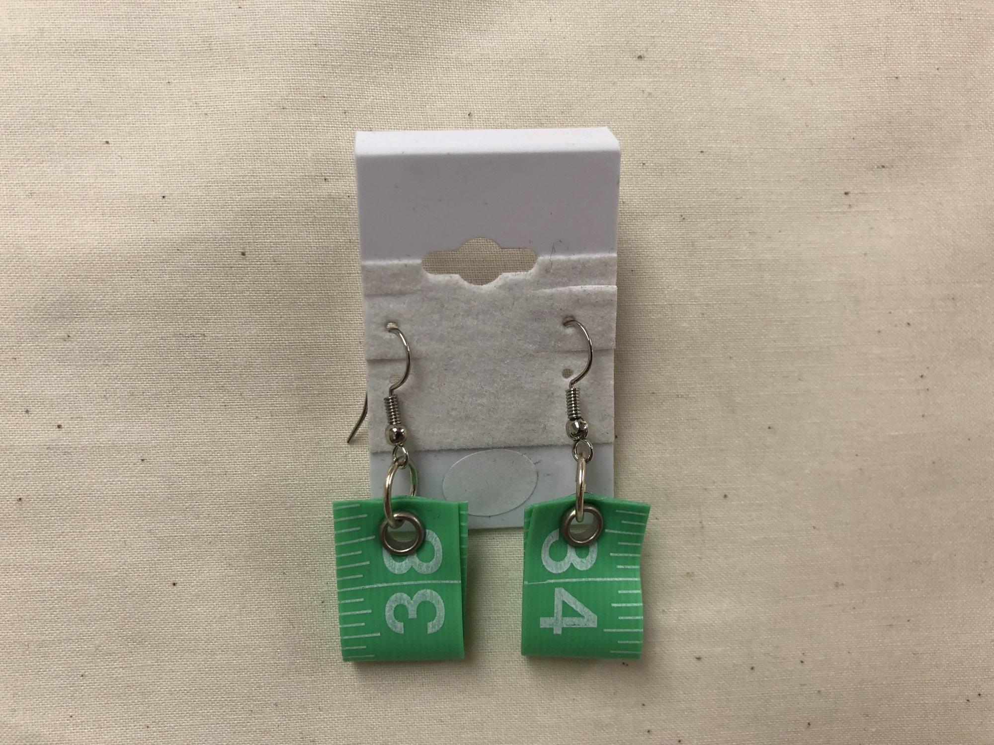 Tape Measure Earrings