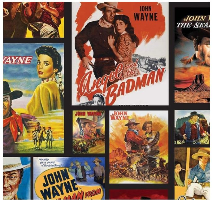 John Wayne Movie Posters Black