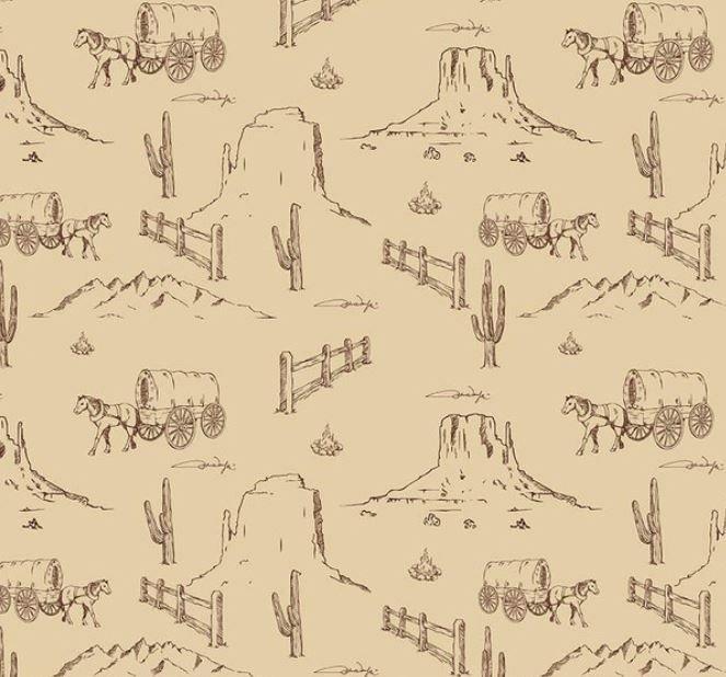 John Wayne Western Landscape Tan