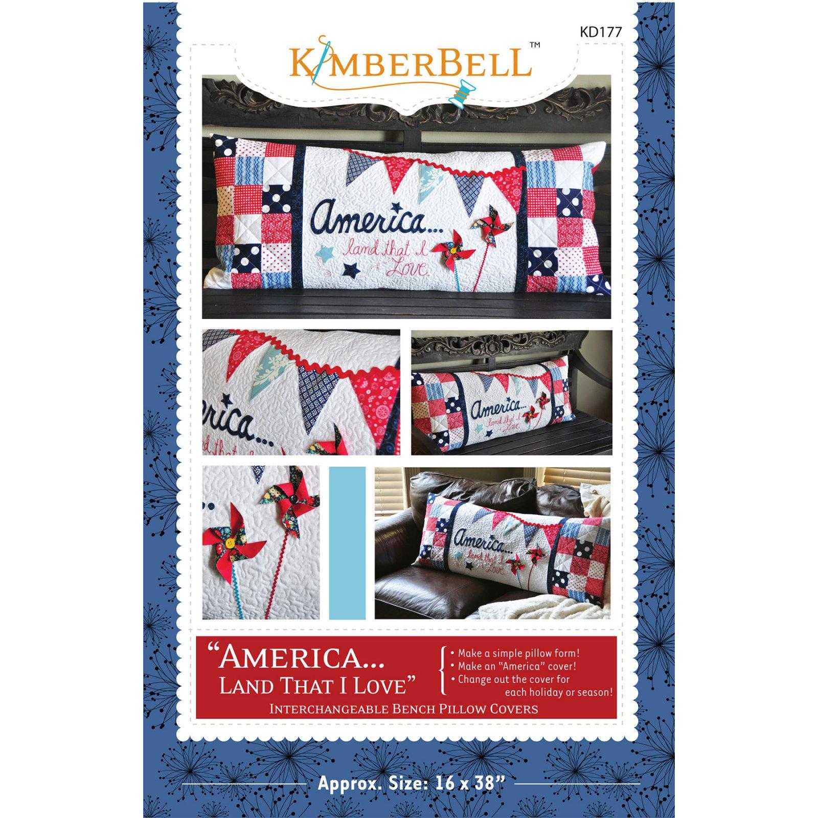 Kimberbell America Bench Pillow