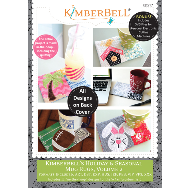 Kimberbell Holiday Seasonal Mug Rugs Volume 2 CD
