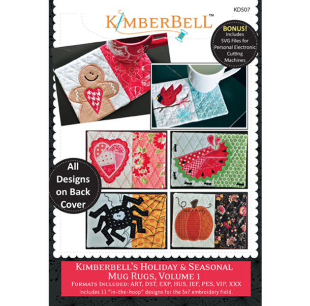 Kimberbell Holiday Seasonal Mug Rugs Volume 1 CD