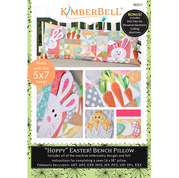 Kimberbell Hoppy Easter Bench Pillow CD
