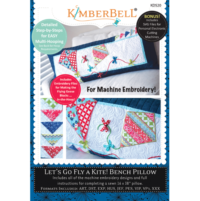 Kimberbell Let's Go Fly a Kite! Bench Pillow CD