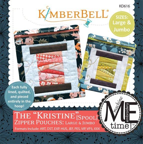 Kimberbell Kristine (Spool) Zipper Pouch Large & Jumbo Sizes Machine Embroidery