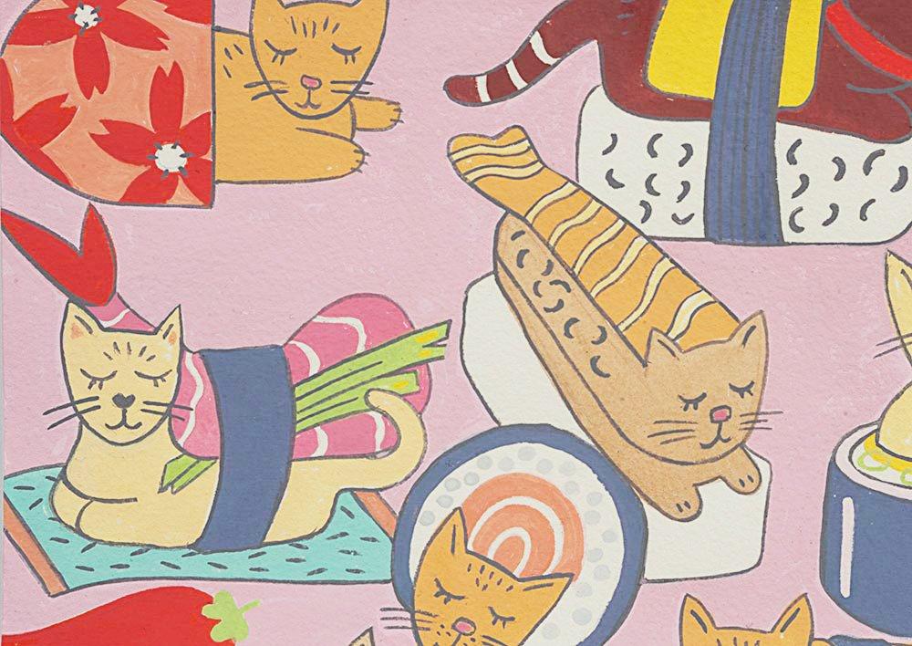 Kitty Rolls pink