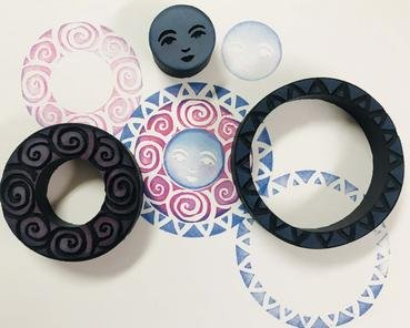 Creative Concentrics Celestial Rings Foam Stamps