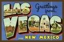 Las Vegas New Mexico Large Letter 4x6