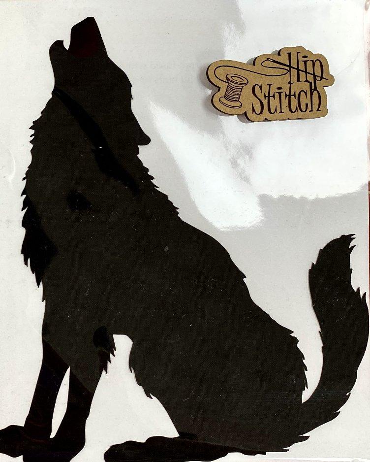 Howl Laser Cut Left Facing Wolf