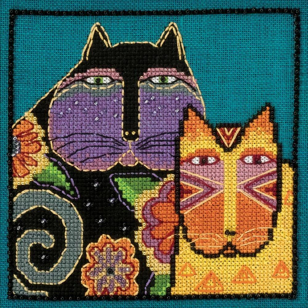 Feline Friends Laurel Birch Cross Stitch Kit