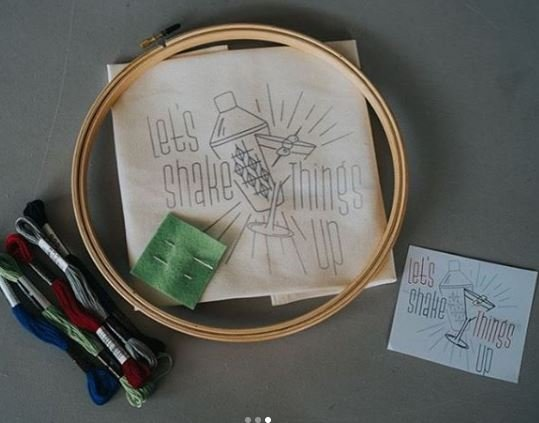 Let's Shake Things Up Embroidery Kit
