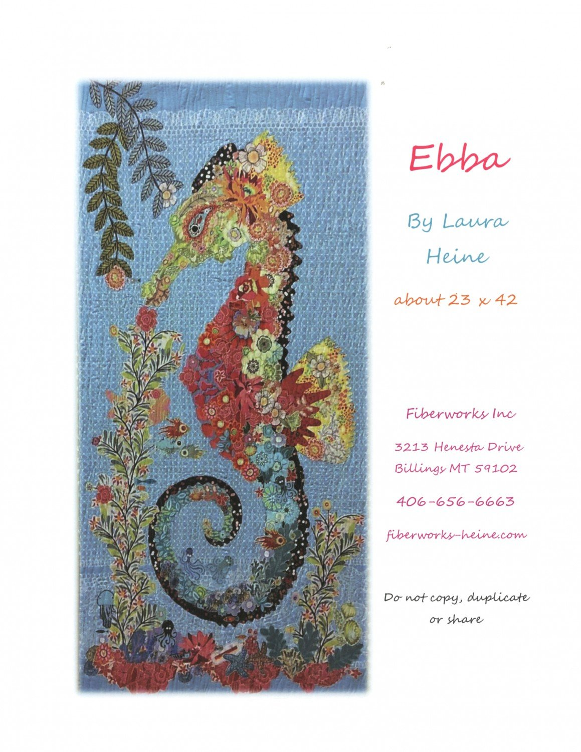Collage pattern Ebba Seahorse