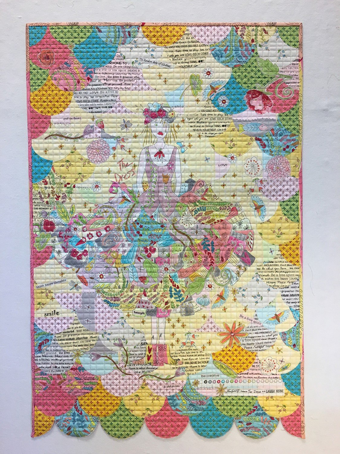 Collage Glam Clam Pattern by Laura Heine