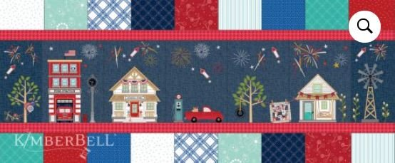 Kimberbell Main Street Celebration Bench Pillow Kit - PREORDER Down Payment
