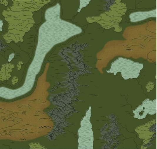 National Parks Maps Green