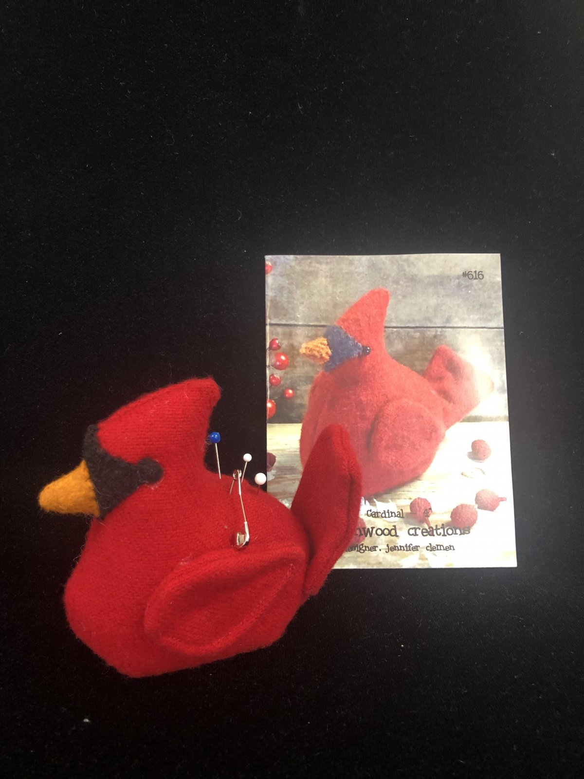 March Pincushion of the Month:  Cardinal