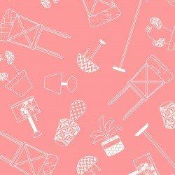 Kimberbell Make Yourself at Home Home Furnishings Pink Fabric