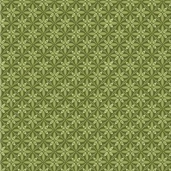 1 1/4 Yd. Remnant Kimberbell Make Yourself at Home Tufted Star Green Fabric