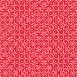 Kimberbell Make Yourself at Home Tufted Star Red Fabric
