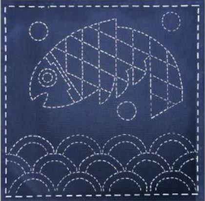 Sashiko Southwest Mimbres Fish