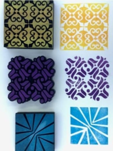 Nathalie Kalbach Studio 3 Fancy Blocks stamp