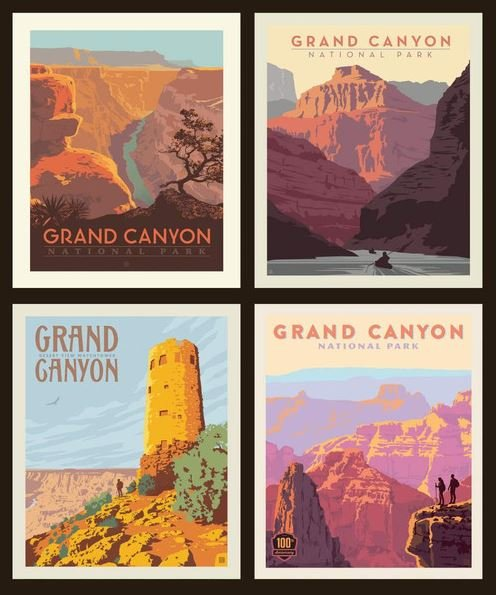 National Parks Grand Canyon Pillow Panel