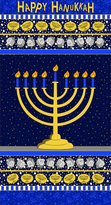 Festival of Lights Menorah Panel Hanukkah