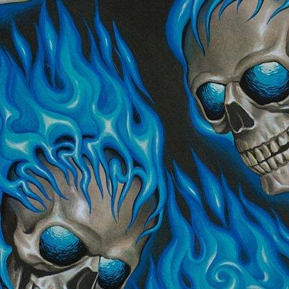 Hotheads Skulls Black/Blue