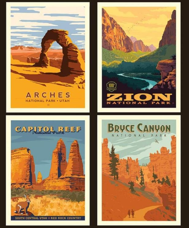 National Parks Pillow Panel Utah