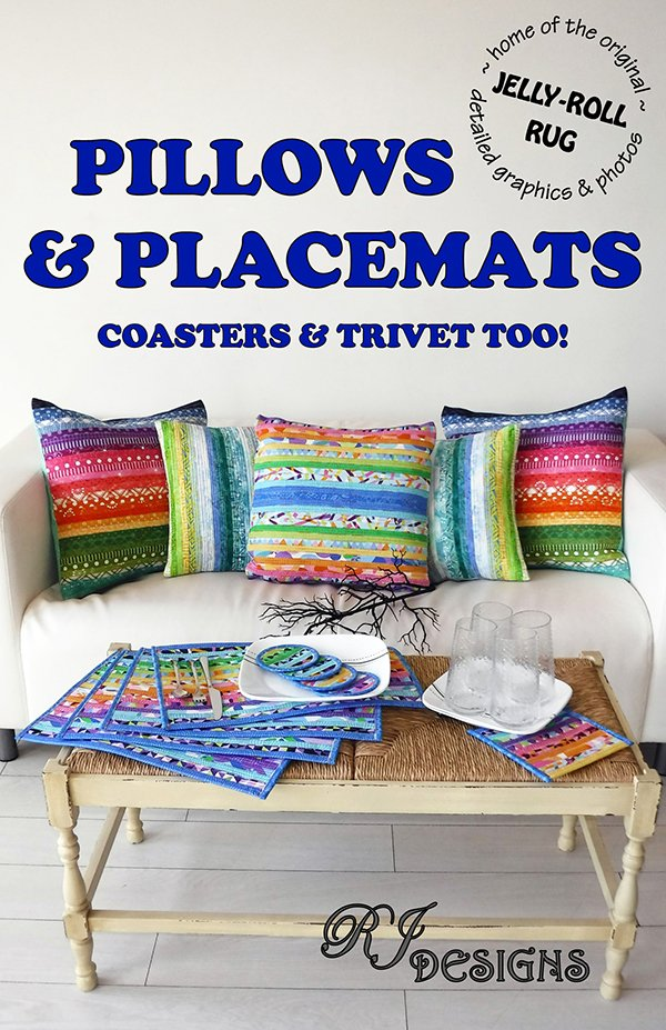 Pillows and Placemats Coasters and Trivet Too!