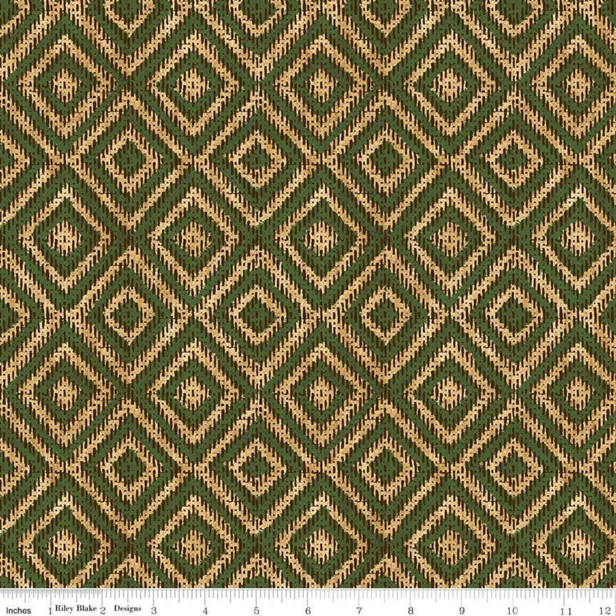 2/3 yd. Remnant Pinewood Acres Weave Green