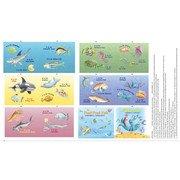 Pout Pout Fish Soft Book Panel by Riley Blake Designs
