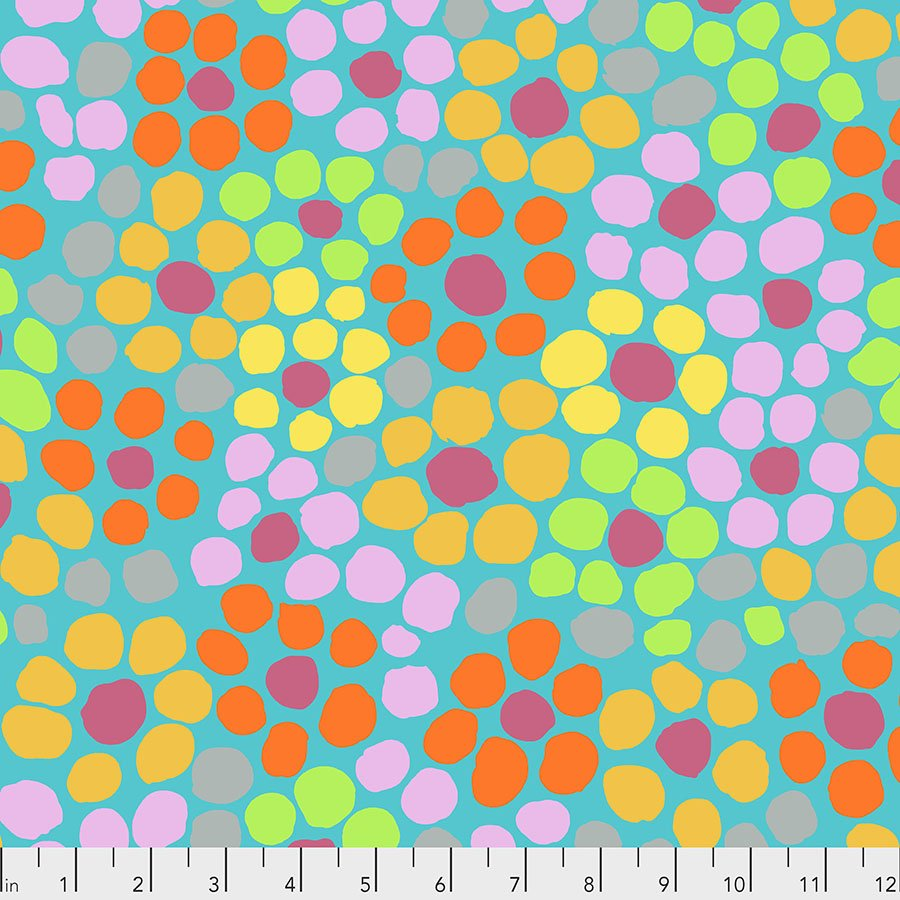 Kaffe Fassett Collective 2020: Flower Dot - Aqua