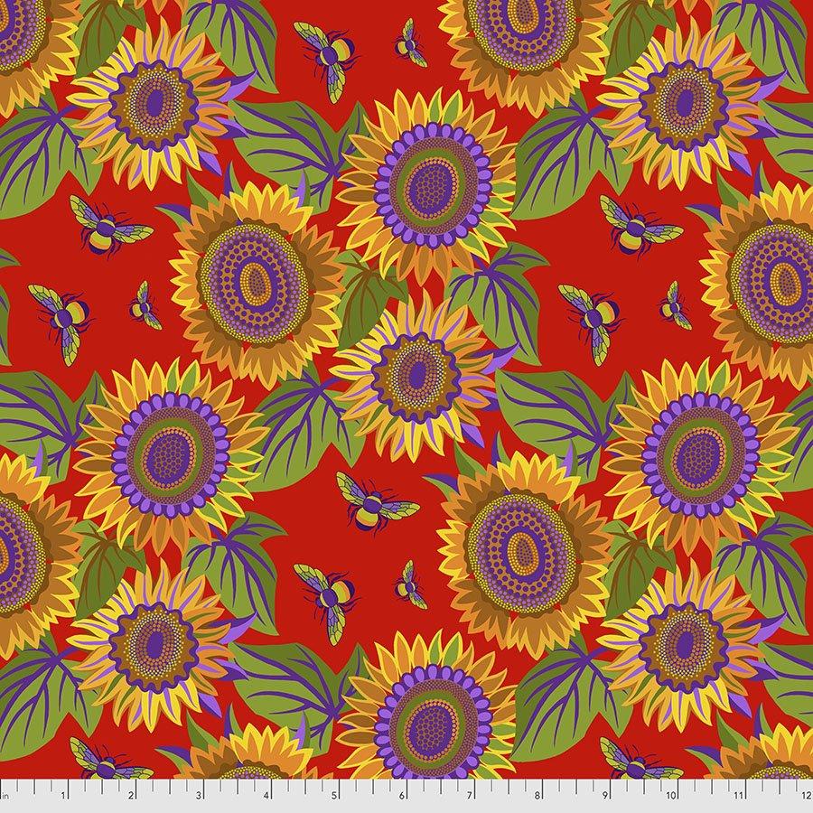 Sassy Summer Salsa Small Sunflower - Red