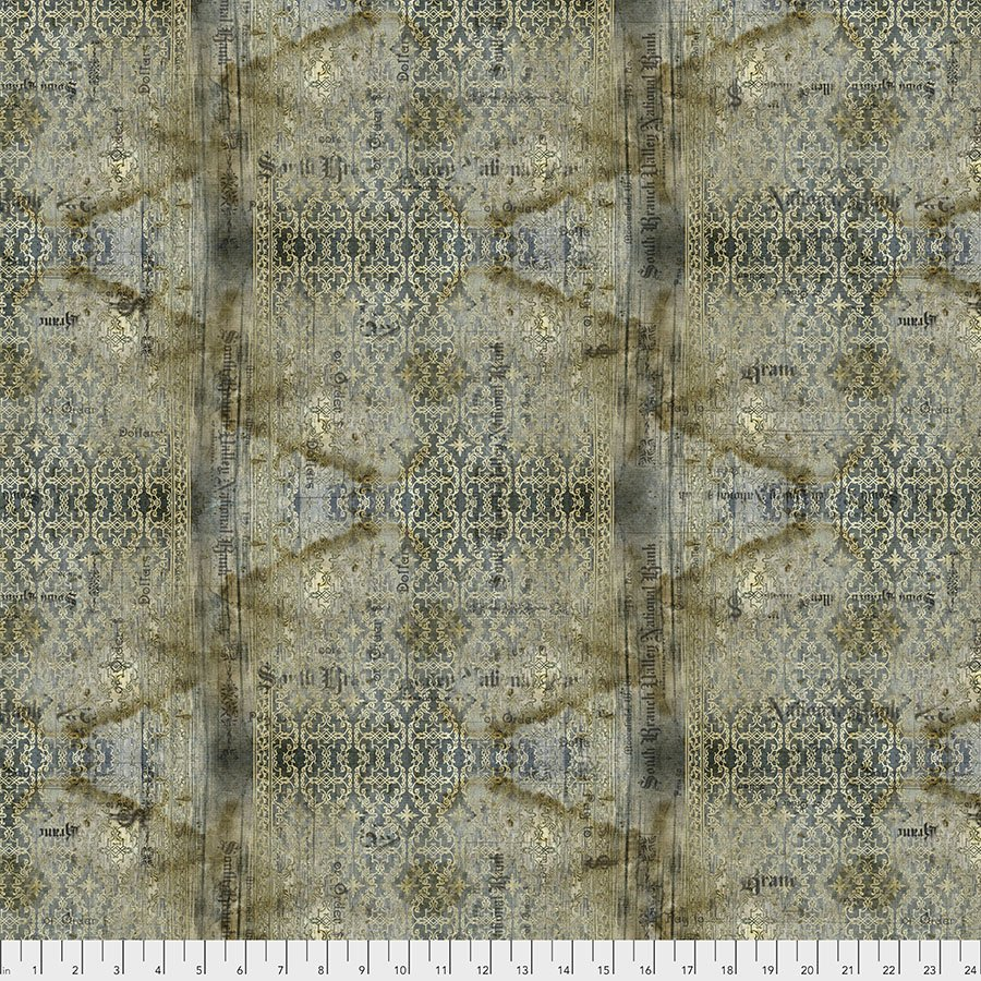 Abandoned by Tim Holtz: Stained Damask - Neutral