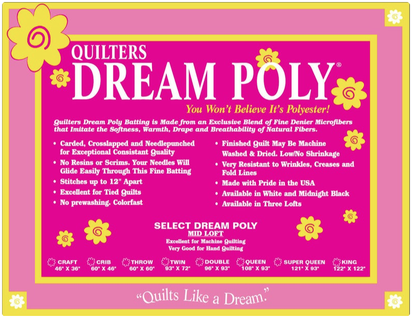 Quilters Dream Poly Select 60 wide batting by the yard