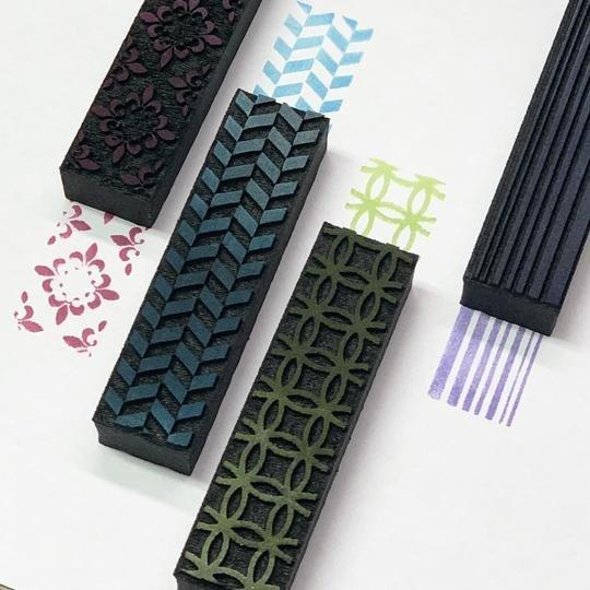 Rails Foam Stamp - set of 4