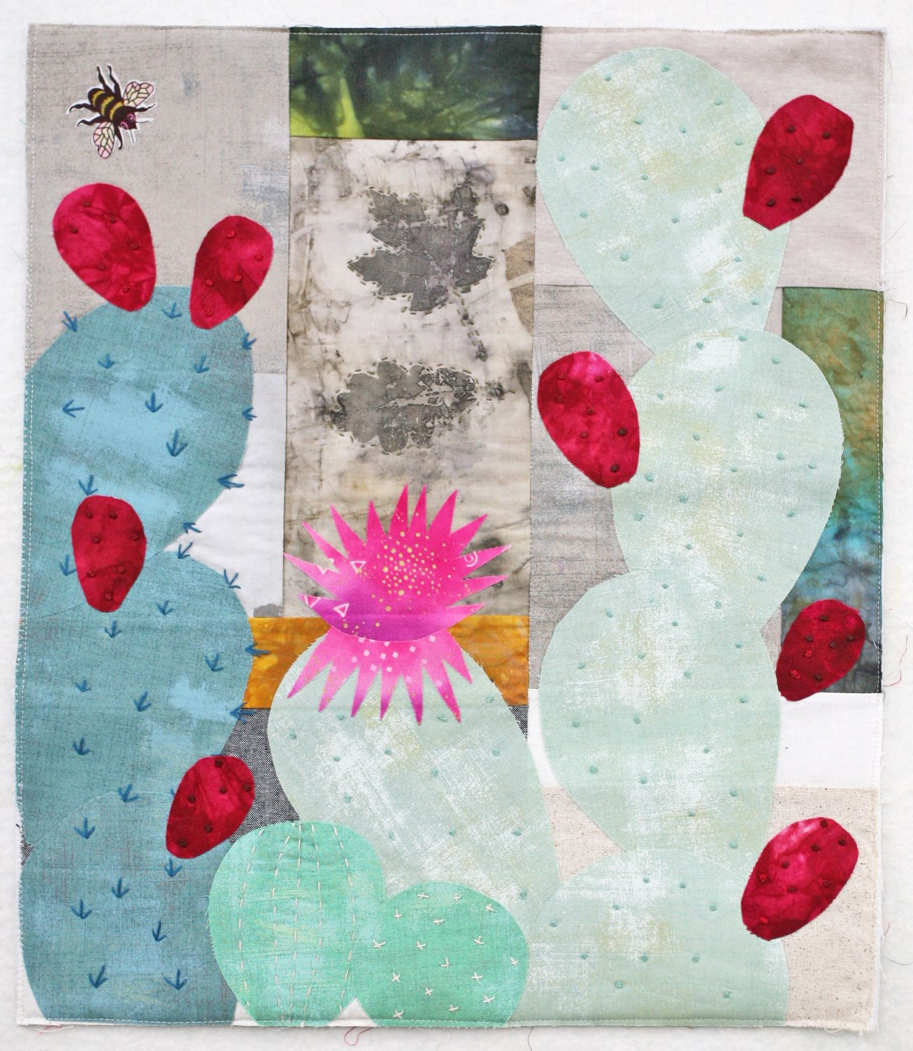 Reut's Prickly Pear Cactus Collage