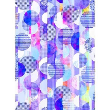 Geometry Three Sixty Violet Fabric