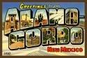 Alamogordo Large Letter 1 Fabric Postcard 4x6