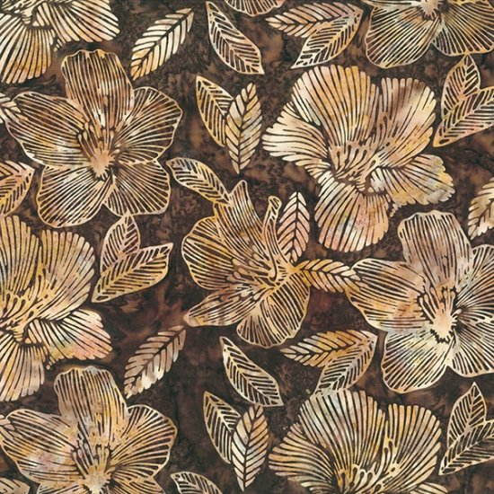 Bali Batik - Black & White Striped Flower Chestnut